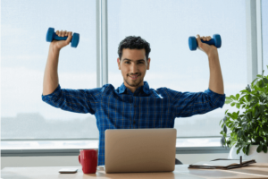 dumbell workouts at your desk