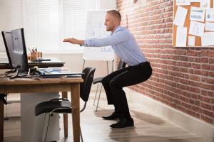 squats at your desk