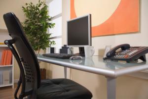 Organized desk setup